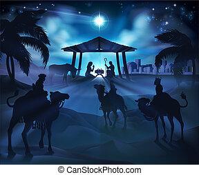 Weihnachtsgewohnheitsszene