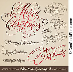 Weihnachtsgrüße, Handschreiben