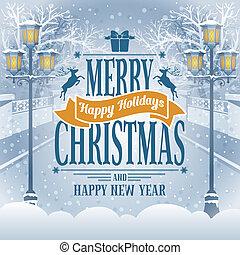 Weihnachtsgrüßkarte