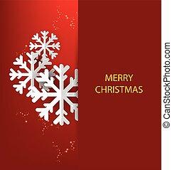 Weihnachtsgrüßkarte. Vector krank