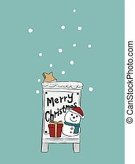 Weihnachtshand gezeichnet. Vector Illustration.