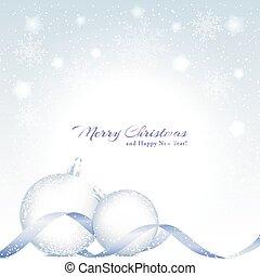 Weihnachtshintergrund mit funkelnder Kristallkugel.