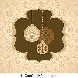 Weihnachtshintergrund mit Retromuster.