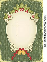 Weihnachtskarte für Design mit Urlaubselementen