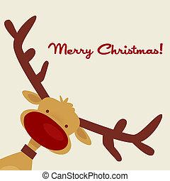 Weihnachtskarte mit Rentieren