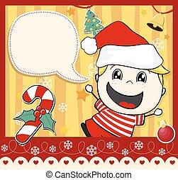 Weihnachtskarten-Junge.