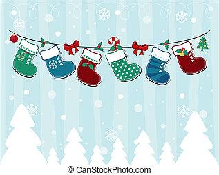 Weihnachtskarten wie ein Kind