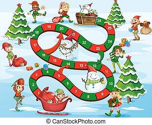 Weihnachtskartenspiel.