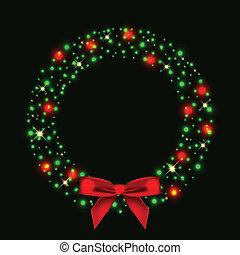 Weihnachtskranz aus Licht.