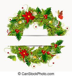 Weihnachtskranz für dein Design