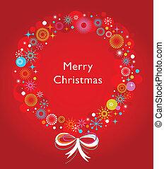 Weihnachtskranz-Papier