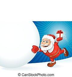 Weihnachtsmann anwesend