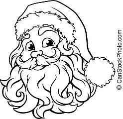 Weihnachtsmann-Veranschauung.