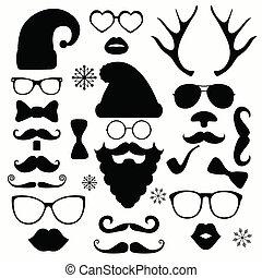 Weihnachtsmode Silhouette setzt hipster Stil.