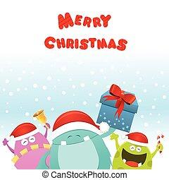 Weihnachtsmonster-Karte