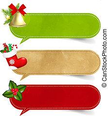 Weihnachtsrede-Blase-Set