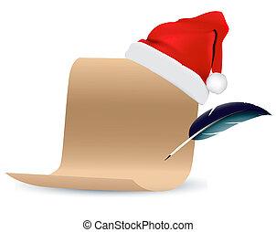Weihnachtsrollenpapiervektor