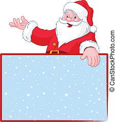 Weihnachtssanta hat Platz über dem leeren G