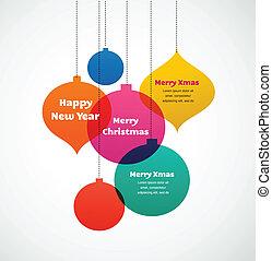 Weihnachtsschmuck - farbenfroher Hintergrund.