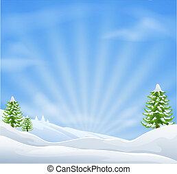 Weihnachtsschneelandschaft