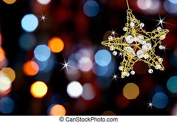 Weihnachtsstern mit Lichtern