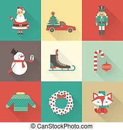 Weihnachtssymbole.