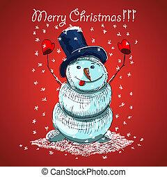 Weihnachtsvektorkartendesign