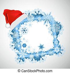 Weihnachtsvektorrahmen. Weihnachten B