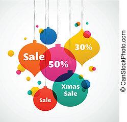 Weihnachtsverkauf - farbenfroher Hintergrund.