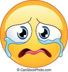 weinen, emoticon, traurige