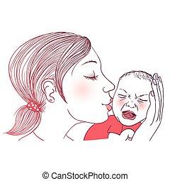 Weinendes Baby.
