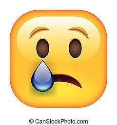 Weinendes Emoticon