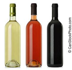 Weinflaschen leeren keine Etiketten