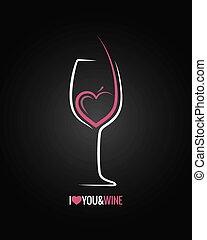 Weinglaskonzept Hintergrund.