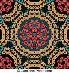 weinlese, stammes-, pattern., seamless, element, orientalische , fliese