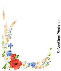 Weizen und Wildblumen