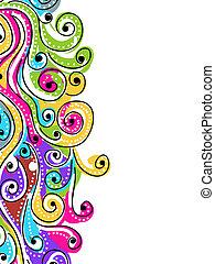 Wellenhandmuster für Ihr Design, abstrakter Hintergrund