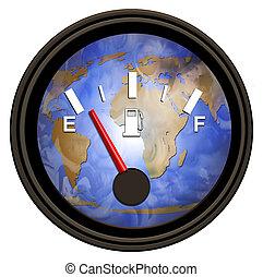Welt-Benzinmesser