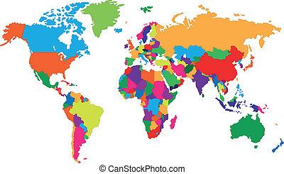 welt, corolful, landkarte