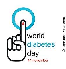 Welt-Diabetes-Tag-Konzept.