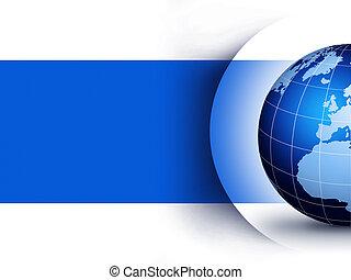 welt globus, design, begriff