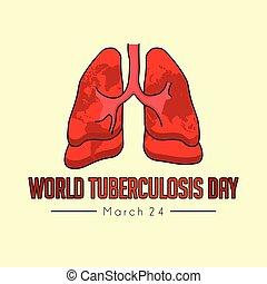 welt, tuberkulose, tag