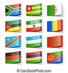 Weltflaggen. Afrika.