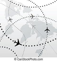 Weltfliegerreisepläne