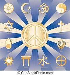 Weltfrieden, viele Religionen