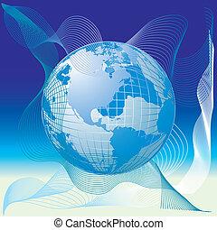 Weltkarte, 3D Globus.