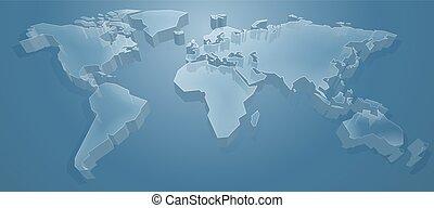 Weltkarte 3D Hintergrund.