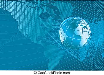 Weltkarte Globus Hintergrund.