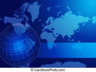 Weltkartenkugel