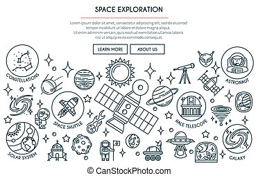 Weltraumforschungsbanner 2